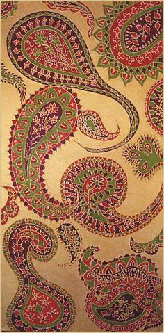 acrylic on canvas Paisley Design, Paisley Pattern, Love Craft, Human Condition, Fabrics, Textiles, Boho, Patterns, Canvas