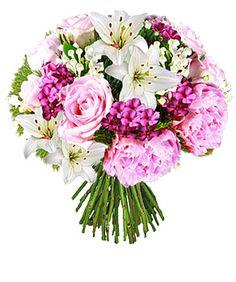 Bouquet Hamptons - Pivoines, Lys et Œillets de Poète - Foliflora