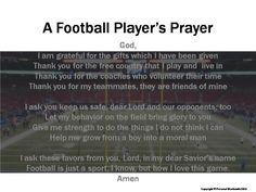 Football Prayer Digital Print, Football Player's Prayer Download, Athlete's…