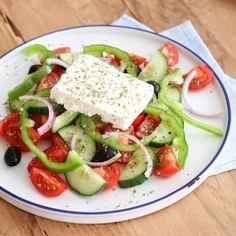 Healthy Diet Recipes, Vegetarian Recipes, Crockpot, Classic Salad, Greek Recipes, No Cook Meals, Love Food, Food Porn, Food And Drink