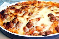 pasta al forno con polpettine | Cooking Italy