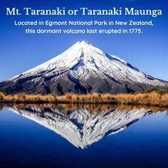 Which on is it? #mttaranaki, #taranakimaunga, #visitnewzealand Visit New Zealand, Mount Rainier, Caribbean, National Parks, Australia, Mountains, Places, Travel, Beautiful