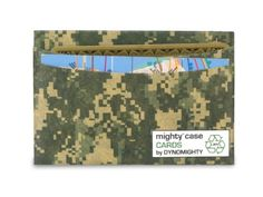 Camo Mighty Case Cards - $5.50    The ultra slim mighty case cards is made with tyvek that is water and stain resistant yet writable and long lasting. Designed from a single sheet to eliminate stitching, the mighty case cards can hold your most important credit and business cards in a ultra slim front pocket design. Each mighty case cards comes with 3 pockets.