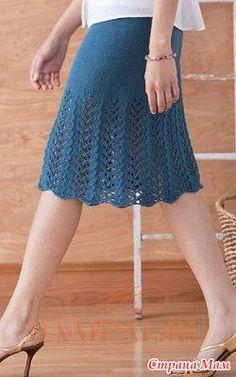 Вязаная юбка от дизайнера Cecily Glowik MacDjnald демонстрирует простой способ создания трапециевидной формы без убавления или прибавления петель.