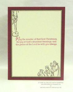 Stamp & Create With Sabrina: All Ye Faithful #1