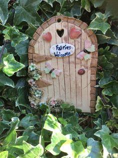 Fairy door, ceramic fairy door, garden fairy door, fairies welcome. - pinned by pin4etsy.com