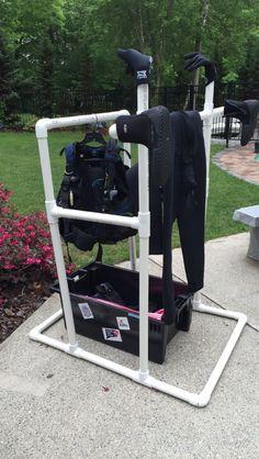 Gadgetflye.com ...DIY Scuba Diving Drying Rack                                                                                                                                                      More #scubadivingequipment