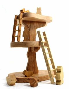 Tree house wooden toy  - pics from #kids #giftguide  eco-friendly #toys via #etsy