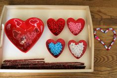 "Montessori-Oriented Pipe-Cleaner & Bead Valentines Day Activity by Deb Chitwood ("",)"