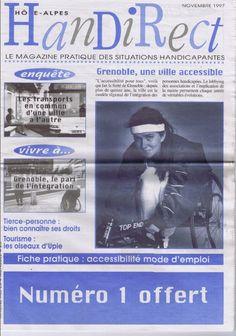 Couverture du 1er numéro d'Handirect Magazine sorti en novembre 1997 !