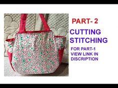 147a1a21acc5 PART 2 DIY cutting stitching of handmade handbag in hindi   purse making   shopping bag  travel bag