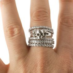 Skull Stackable Ring Set