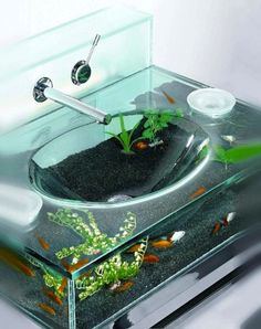 Coolest sink ever but I would hate to clean it