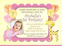 Unique 1st Birthday Invitation Cards