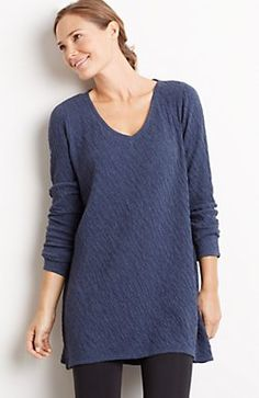 Pure Jill crinkle V-neck tunic  69 (sale  50 12 14) Comfortable a21a72fe8