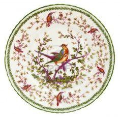 An antique Paris porcelain plate dating to the mid 19th century - genuine antique
