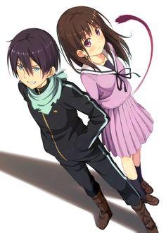 Noragami Yato and Hiyori http://static.zerochan.net/Noragami.full.1658362.jpg