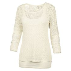 Buy Fat Face 2 In 1 Lace Top, Ivory Online at johnlewis.com