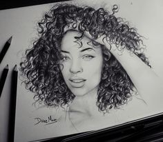 MVP #curly #hair #drawing