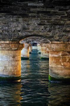 River Seine beneath Pont de la Concorde, Paris, France