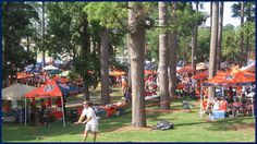 Tailgatin' in the Amphitheater Auburn Style. War Eagle!
