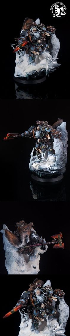 Logan Grimnar Space Wolf true scale:
