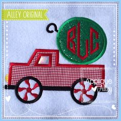 no candy embroidery design -cane - Yahoo Image Search Results Christmas Applique, Christmas Ornaments, Peppermint, Embroidery Designs, Trucks, Candy, The Originals, Sewing, Holiday Decor