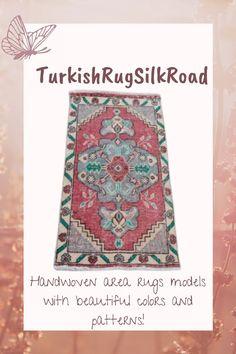 Pink area rug, Turkish boho rug, Vintage rug, Handmade rug, Wool rug, Tribal rug, Small rug, Oriental rug, Decor, Rug 1.6 x 3.3 Feet Rug Loom, Bohemian Decor, Boho, Rustic Rugs, Hallway Rug, Tribal Rug, Small Rugs, Oriental Rug, Wool Rug