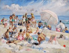 Gloucester Beach by Martha Walter circa 1930 Fine Art Giclee Print on Canvas - pinned by pin4etsy.com