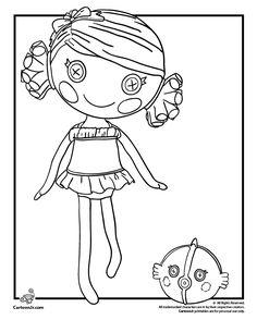 lalaloopsy doll coloring pages coral sea shells lalaloopsy coloring page cartoon jr