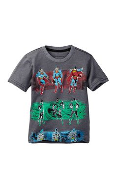 Justice League Vintage Together Short Sleeve Tee (Little Boys)