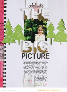 Layout by Natalie Elphinstone featuring the Studio Calico Lollipop Guild Scrapbook Kit. Christmas Scrapbook Layouts, Photo Album Scrapbooking, Scrapbook Sketches, Scrapbook Page Layouts, Scrapbooking Ideas, Wedding Scrapbook, Travel Scrapbook, Scrapbook Paper, Scrapbook Kit