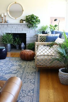 Rattan Daybed - The Inspired Room living room decor