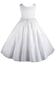 67b108cfc AMJ Dresses Inc Elegant White Flower Girl Communion Dress Size 8 AMJ Dresses  Inc,http