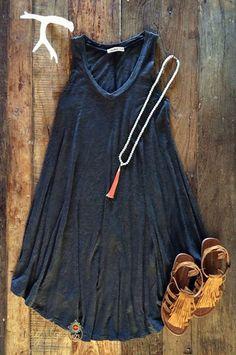 Shaw Dress - Charcoal – Bungalow 123