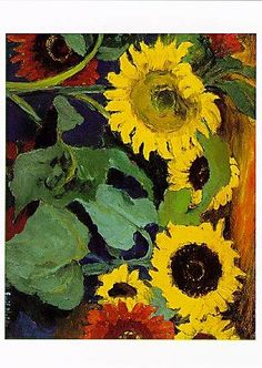 Sunflowers by Emil Nolde
