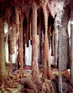 Forest | Crocheted Sisal, Jute and Manila fibers |Hand dyed with fiber reactive dyes | Tapestry Bienniale, Lausanne Switzerland, 1975