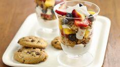 GlutenFree Cookie, Greek Yogurt and Fruit Parfaits