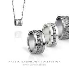 Arctic Symphony Collection - ring and necklace; BERING jewellery; Twist & Change System