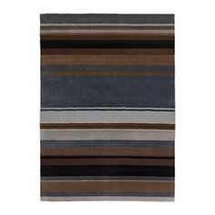 """IKEA - STOCKHOLM, Rug, low pile, 5 ' 7 """"x7 ' 10 """", , Handwoven by skilled craftspeople, each one is unique. Made in India in organized weaving centers with good working conditions and fair wages.The rug is made of pure new wool so it's naturally soil-repellent and very durable.The dense, thick pile dampens sound and provides a soft surface to walk on."""