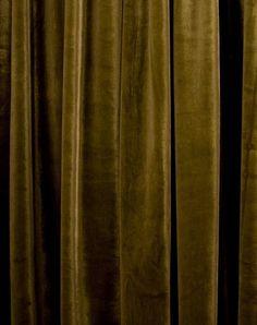 moss velvet drapes
