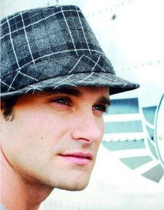 cf81274c491 Grey tartan short brimmed felt fedora hat for fashion men