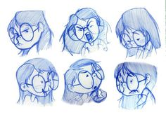 faces, expressions, illustration
