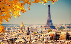 Paris Eiffel Tower Autumn Wide HD Wallpaper