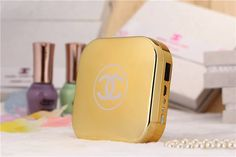 gold chanel power bank