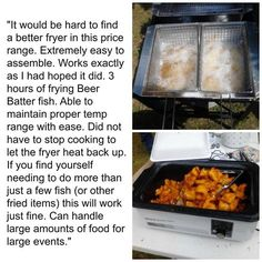 Kitchener Triple Basket Deep Fryer Kitchen Water Dispenser 79 Best Outdoor Cooking Tools Images Customer Story From Walleye507 In Albert Lea Mn On A