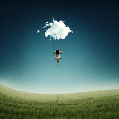 swing on a cloud, your feet off the ground