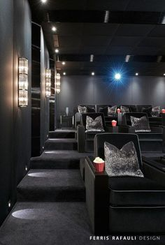 contemporary home theater / movie room - to die for. I would ...