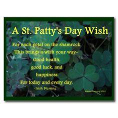 "Thanks, Dolly (Glenside, PA) for buying eight of the ""Happy St. Patty's Day"" – Shamrock Postcard  Enjoy! -Martie   http://www.zazzle.com/happy_st_pattys_day_shamrock_1_postcard-239086336391071557?rf=238706427652551388"