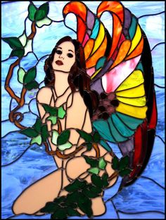 Fairy stained glass window #Stain-glass #stained_glass #window